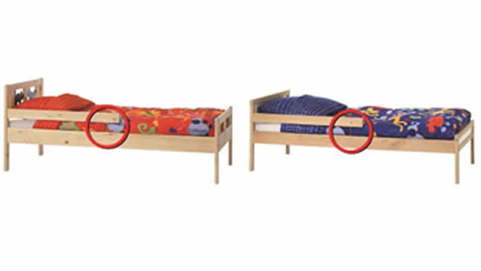 Ikea retira del mercado dos modelos defectuosos de camas de niños