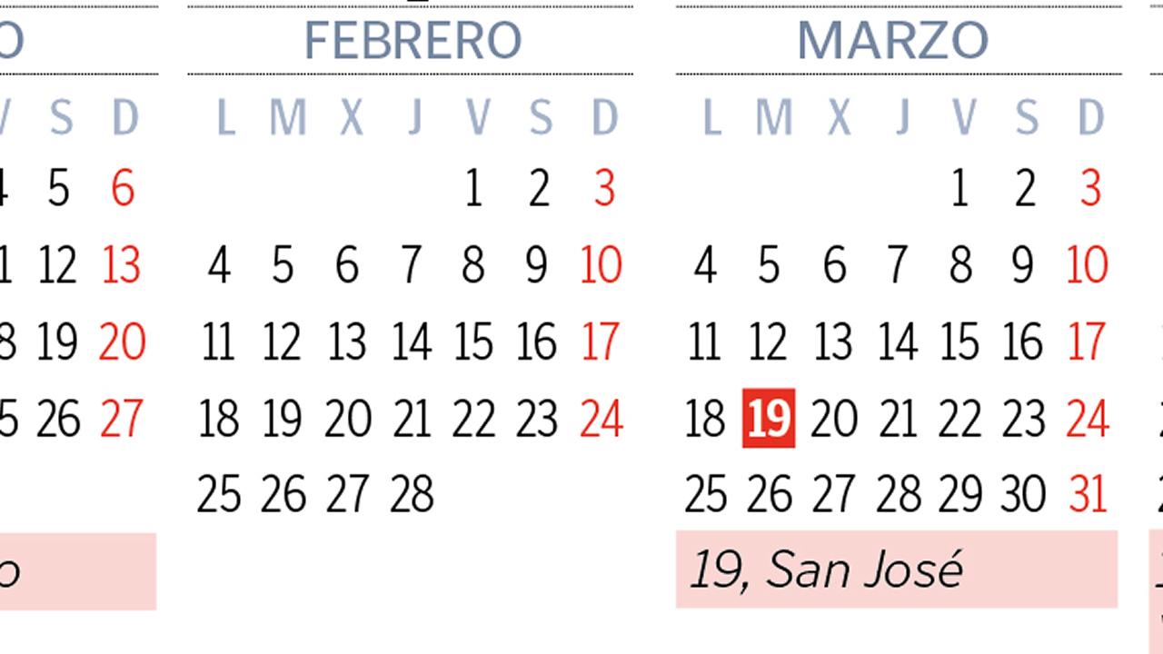 Calendario Enero 1978.El Calendario Laboral Del 2019 Permitira Hasta Ocho Puentes