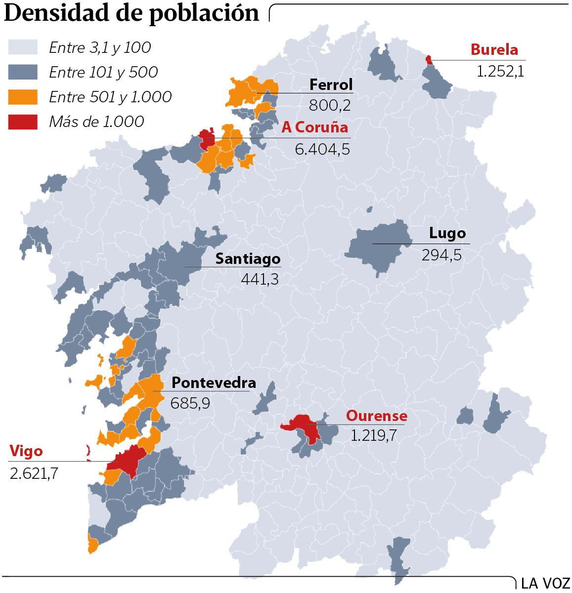 La Galicia Vacía 182 Concellos No Llegan A 50 Vecinos Por Cada Kilómetro Cuadrado