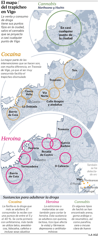 Asociaciones Cannabicas Barcelona Mapa.El Mapa Del Trapicheo De Drogas En Vigo