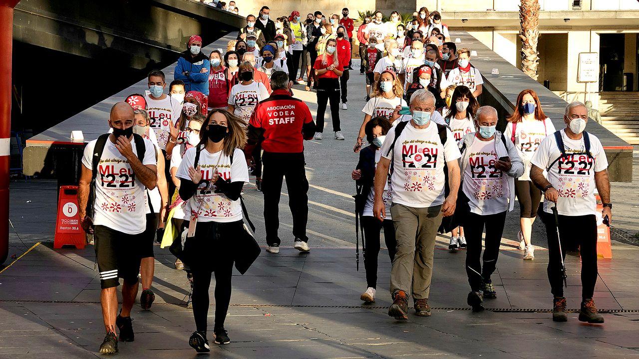La marcha contra la leucemia se acordó de Isaura Abelairas y Deborah Cervera