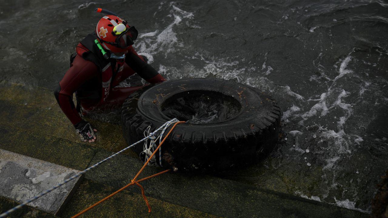 Cien buceadores rescatan 2.000 kilos de basura en aguas de la Dársena