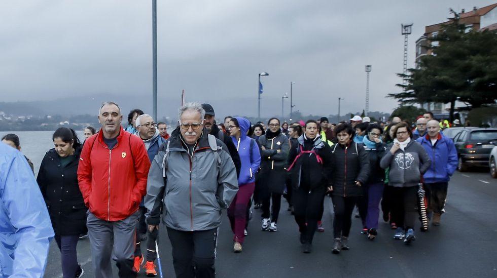 Caminata en Rianxo en favor de los niños oncológicos de Galicia