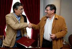 Moreda y Deira firmaron ayer un convenio de colaboración para hacer las nuevas dependencias