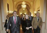Carlos Negreira, la ministra Ana Pastor y el secretario de Estado Julio Gómez Pomar.