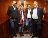 Marcos Suárez (BNG), Luisa Piñeiro (PP), Juan Carlos Rey (Independentes) y Celso Diz (PSOE).