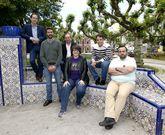 Los seis candidatos en los bancos de Ravella, un lugar que marcó un antes y un después.