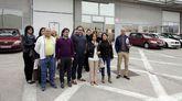 Primera concentración en San Cibrao. Un grupo de operarios se concentraron frente a una de las naves del polígono para mostrar su rechazo al ERE que afectará a 144 trabajadores.