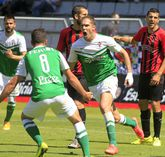 Nano Macedo anotó su gol al aprovecharse de un mal despeje de una defensa del Reus.