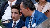 Jaime de Marichalar con Froilán viendo un partido de tenis este mayo en Madrid