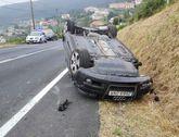 El vehículo, tras el accidente.