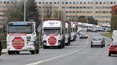 Los camioneros protestaron en Santiago cuando la Xunta subió el impuesto en enero del 2014.