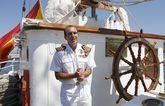 Torres Piñeiro, el lunes, a la llegada al puerto de Marín.