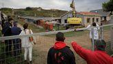 El propietario del solar decidió asumir el coste de la demolición, que se realizó el pasado martes.