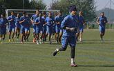 El Pontevedra, en una imagen de archivo, entrenó ayer por última vez antes de salir hacia Cáceres.