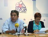 Lores y Olaia Fernández presentaron las enmiendas del BNG.
