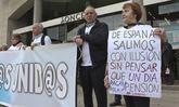 La plataforma de A Coruña se presentó con una concentración en el obelisco.