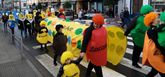 Varios grupos de las comarcas de Arzúa, Melide o Santiago participaron en el desfile.