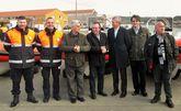 Rueda, Diego Calco y varios representantes de Malpica.