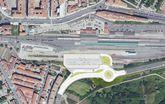 En el plano, vista de la ubicación de la estación de autobuses y la reforma que requiere Clara Campoamor