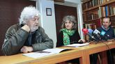 Beiras, con Lidia Senra y René Fernández en Santiago