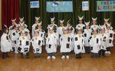 En Brens mostraron su apoyo al sector lácteo con disfraces.