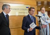 Conde y Feijoo se reunieron ayer en Vigo con Martin para buscar soluciones a la ampliación.
