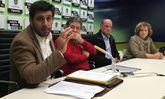 De izquierda, Chapela, Lores, Magín Alfredo Froiz y la concejala Carme Fouces, ayer en el Concello.