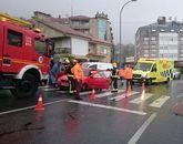 El accidente movilizó a las emergencias de Poio y Sanxenxo.