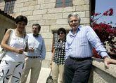 Garzón y León en una visita a Cambados en el 2008