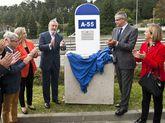 El anuncio de las obras en el vial Vigo-O Porriño tuvo placa.