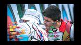 El pontés Miguel Alvariño comprueba la diana durante la Copa del Mundo de Shanghái