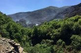 Una foto de la zona siniestrada tomada el 27 de julio del 2015, antes de que el incendio fuese extinguido