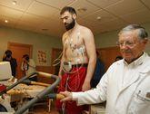 Kostas Vasileiadis pasó el reconocimiento médico y ya se ejercitó con sus compañeros.