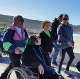 Participantes en el Camiño dos Faros inclusivo