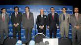 Imagen de archivo del 2011, con José María Ruiz MAteos junto a seis de sus hijos