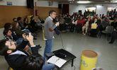 El alcalde, Xulio Ferreiro, y los ediles del gobierno, en el Dillo Ti celebrado el pasado sábado.