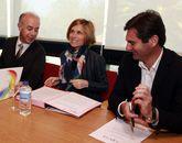 El convenio se firmó en la que será la sede de la mancomunidad.