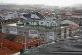 Vista del casco urbano de Carballo, la mayor concentración urbana de la Costa da Morte.