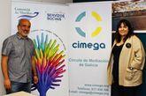 Crespo y De la Cuesta, en la sede de Cimega.