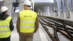 Dentro de la nueva estación del AVE de Vigo