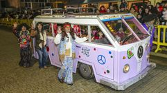 Arranque del desfile de carnaval en Carballo