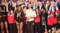 La espectacular puesta en escena de Coldplay, Beyoncé y Bruno Mars en la Super Bowl