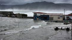El oleaje azota la costa de Ferrol