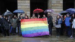 Concentración en Santiago en contra de la agresión homófoba