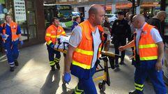 Dos heridos en una sucursal de Vigo