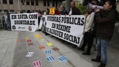 Protesta por las familias en riesgo de desahucio en Vigo