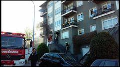 Incendio en una vivienda de Os Tilos