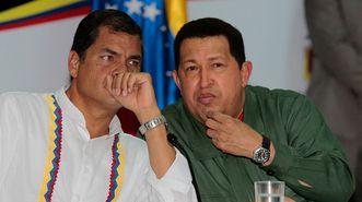 Correa y Chávez,  en una imagen de archivo