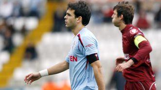 Oubiña, en el partido frente al Castellón en el que lució el brazalete por primera vez, en febrero del 2009